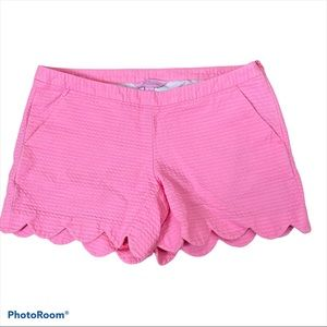 Lilly Pulitzer Pink Scalloped Shorts